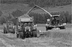 Black and White Tractors